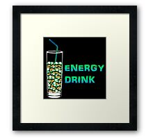 Mario Up Energy Drink spot Framed Print