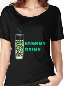 Mario Up Energy Drink spot Women's Relaxed Fit T-Shirt