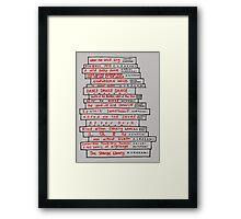 Haruki Murakami Book Fan Framed Print