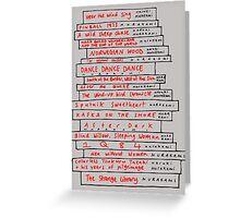 Haruki Murakami Book Fan Greeting Card