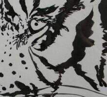 Tiger Reflection Sticker
