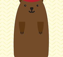 Happy Groundhog's Day » Yellow Chevron Wallpaper Edition by tinyflyinggoats