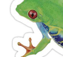 Little green rainforest frog Sticker