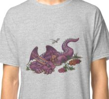 Napping Dragon (with teddy bear) Classic T-Shirt