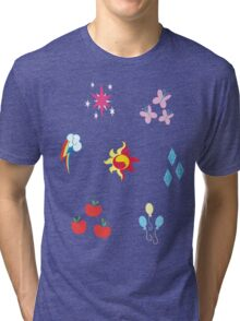 My little Pony - Elements of Harmony Cutie Mark Special V2 (Sunset Shimmer) Tri-blend T-Shirt