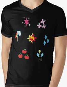 My little Pony - Elements of Harmony Cutie Mark Special V2 (Sunset Shimmer) Mens V-Neck T-Shirt