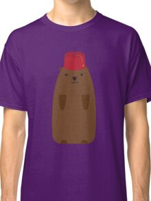 The Big Groundhog in a Fez Classic T-Shirt