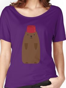 The Big Groundhog in a Fez Women's Relaxed Fit T-Shirt