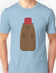 The Big Groundhog in a Fez Unisex T-Shirt