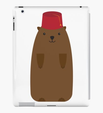 The Big Groundhog in a Fez iPad Case/Skin