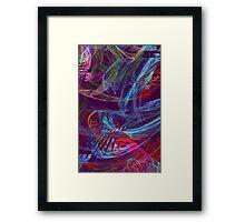 Neon Chaos Framed Print