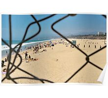 Beach Through a Broken Fence Poster
