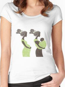 Beautiful pregnant woman #5 Women's Fitted Scoop T-Shirt