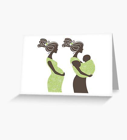 Beautiful pregnant woman #5 Greeting Card