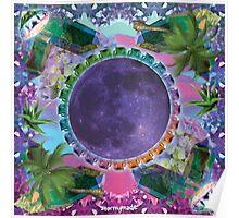 dank dark vapor moon Poster