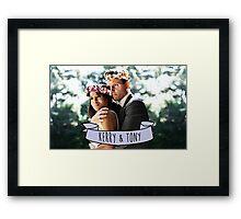 Kerry & Tony - Flower Crown Framed Print