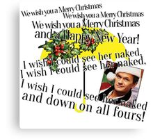 Merry Christmas by Barney Canvas Print