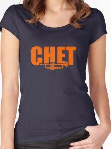 Chet Baker Women's Fitted Scoop T-Shirt