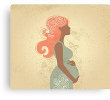 Beautiful pregnant woman #9 Canvas Print