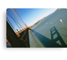 Golden Gate Bridge Shadow Canvas Print