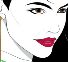 Patrick Nagel's Portrait II Sticker