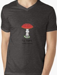 Fly Agaric (with smiley face) Mens V-Neck T-Shirt