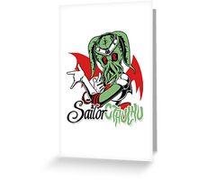 Sailor Cthulu Greeting Card