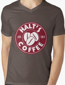A Cup of Coffee and No One Gets Hurt Mens V-Neck T-Shirt