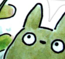 Totoro Leaf Umbrella Sticker