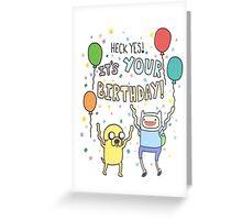 Adventure Time Birthday Card  Greeting Card