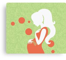 Beautiful pregnant woman #15 Canvas Print