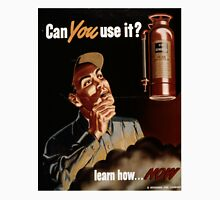 Vintage World War II Fire Extinguisher Safety Unisex T-Shirt