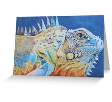 The Brightly Colored Iguana Greeting Card