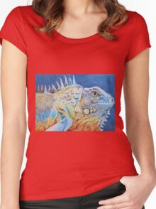 The Brightly Colored Iguana Women's Fitted Scoop T-Shirt