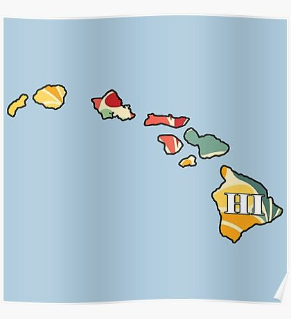 Floral Hawaii Poster