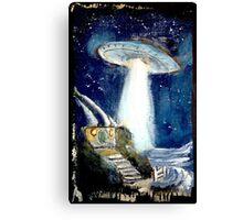 Ufo over the Shire.. Canvas Print