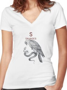 Savages Women's Fitted V-Neck T-Shirt
