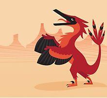 Vainglorious Velociraptor by David Orr