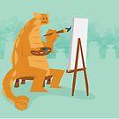 Artistic Ankylosaurus by David Orr