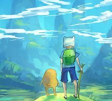 Adventure Time Finn and Jake by yiamstuff