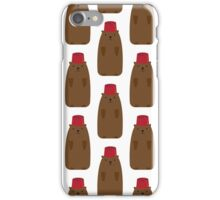 Groundhog in a Fez pattern iPhone Case/Skin