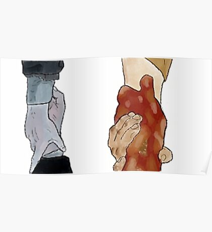 Frodo and Sam Holding Hands Poster