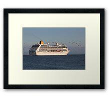 Cruise ship ADONIA Framed Print