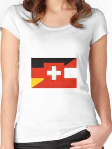 German Language Flag Women's Fitted Scoop T-Shirt