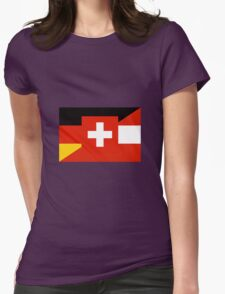 German Language Flag Womens Fitted T-Shirt
