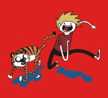 Adventure Time with Calvin and Hobbes Kids Tee