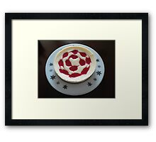Raspberry Cheesecake on Vintage Plate Framed Print