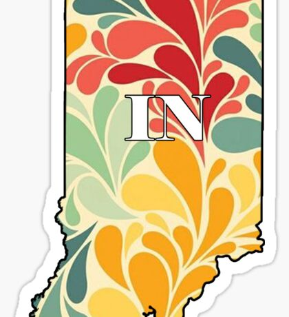 Floral Indiana Sticker