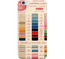 Vintage Color Thread Chart iPhone Case/Skin