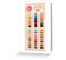 Vintage Color Thread Chart Greeting Card